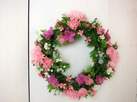 ガーベラミックスリースL(ピンク)