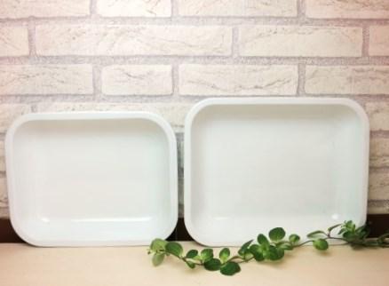 【ホーローベイクパンL(ホワイト)】