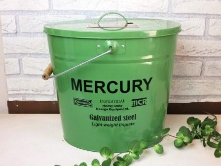MERCURY オーバルふた付きバケツ
